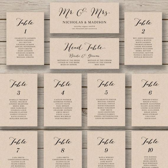 wedding seating chart template printable by hopestreetprintables. Black Bedroom Furniture Sets. Home Design Ideas