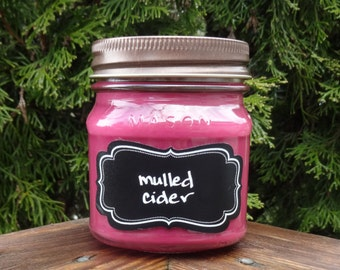 Mulled Cider Soy Candle/Cider Candle/Fall Candle/Apple Cider Candle/Teacher Gift/Apple Candle/Cinnamon Candle/Gift for Mom/Housewarming Gift