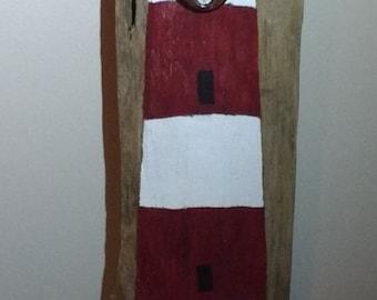 Hand Painted Driftwood Bottle Opener Cape Hatteras Light House