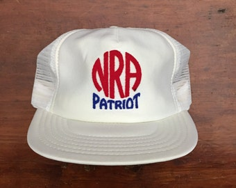 Vintage National Rifle Association of America NRA Patriot Mesh Trucker Hat Snapback Baseball Cap