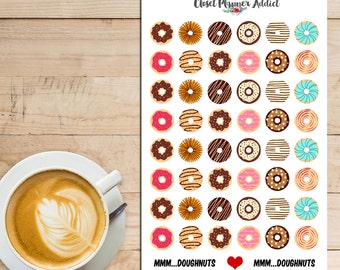 Mmm...Doughnuts Planner Stickers (S-007)