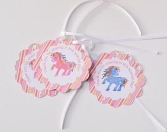 Unicorn Thank You Tag, Unicorn Party Supplies, Unicorn Baby Shower, Unicorn Birthday Decoration, Unicorn Party Centerpiece, Unicorn Toppers