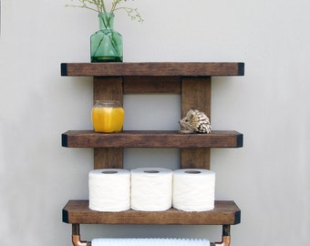 Beau Rustic Bathroom Shelf