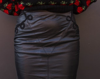 Leather Skirt w/ Rope detail
