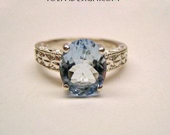 TOPAZ RING * * Blue TOPAZ Ladies Size 7 Ring