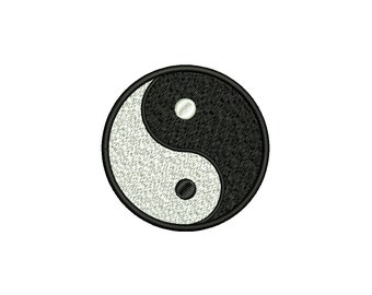 YIN YANG - machine embroidery design - Instant Download