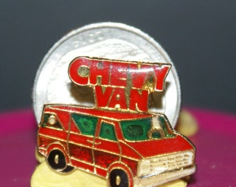 vintage chevy van hat pin and pin back (120)