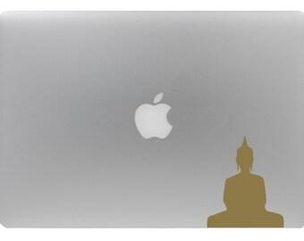 Buddha Sticker , MANY COLORS AVAILABLE , Lotus Stickers Siddhartha, om, namaste, laptop Buddha decal , removable wallpaper , meditation art