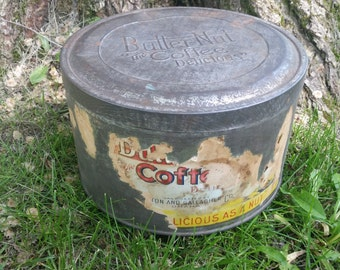 Vintage coffee tin, Buttternut Coffee tin, old vintage tin