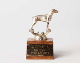 Vintage 1960s Mid Century Dog Show Trophy