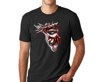 Jesus Profile T-Shirt, Christian Apparel, Christian Clothing, Christian Shirt, Men's T-Shirt, The Passion of Christ, Easter