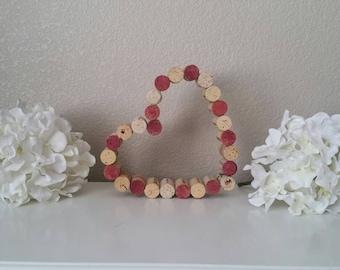 Wine Cork Heart - Weddings, Wall Decor, Anniversary, Vineyard, Winery, Housewarming - Single Row Heart