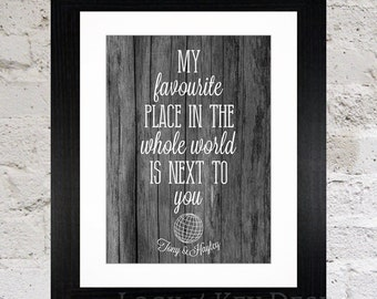 Framed Personalised Love Quote Print / Wedding Gift / Engagement Gift / Anniversary Gift / Valentine's Gift / Love Print / Love Quote
