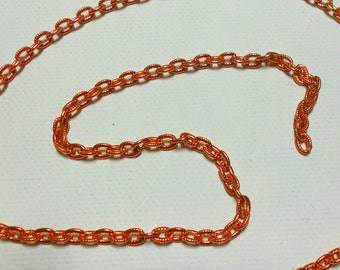 """Bright,Natural Copper,Textured Oval Cable Chain,3.4MM,20"""",CheckBackLaterBeads"""