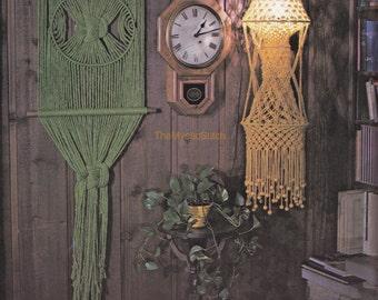 "1970s ""Green Goddess"" Vintage DIY MACRAMÉ Wall Hanging Pattern - Instant PDF Digital Download"