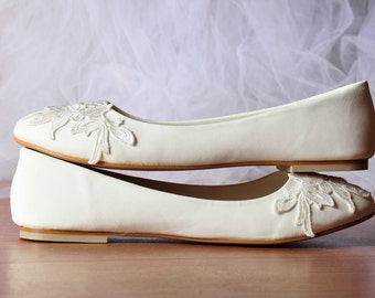White wedding flats white flat shoes bridal ballet flats wedding flats lace wedding flats wedding shoes lace comfortable shoes no heel shoes