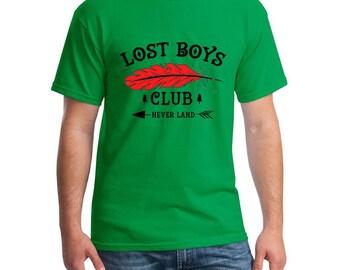 Disney Shirts Lost Boys Club Shirt Never Never Land Shirt Peter Pan Shirt Disneyland Shirt Disney World Shirt