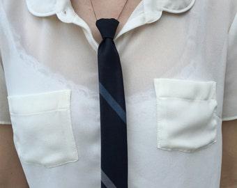 Blue Tie Necklace