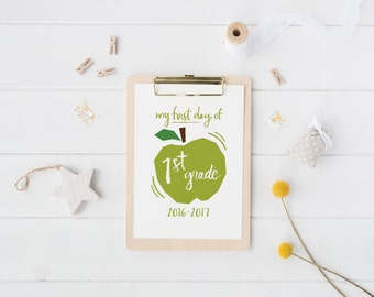 printable first day of school sign | kindergarten to 6th grade | back to school photo prop | digital download