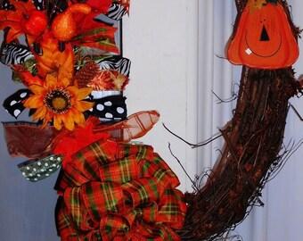 Front door decor, Fall Door Decor, Front Door Wreath, Fall Decor