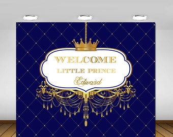 Printable, Royal Blue And Gold, Prince Themed, Crown, Tiara, King,