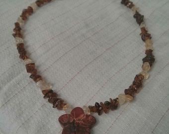 Amber & Citrine Bead Necklace