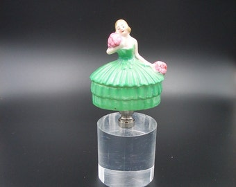 Custom Lamp Finial with an  Antique German 1920's Art Deco Ring Box