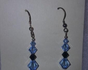 Swarovski Crystal Earrings in Blue