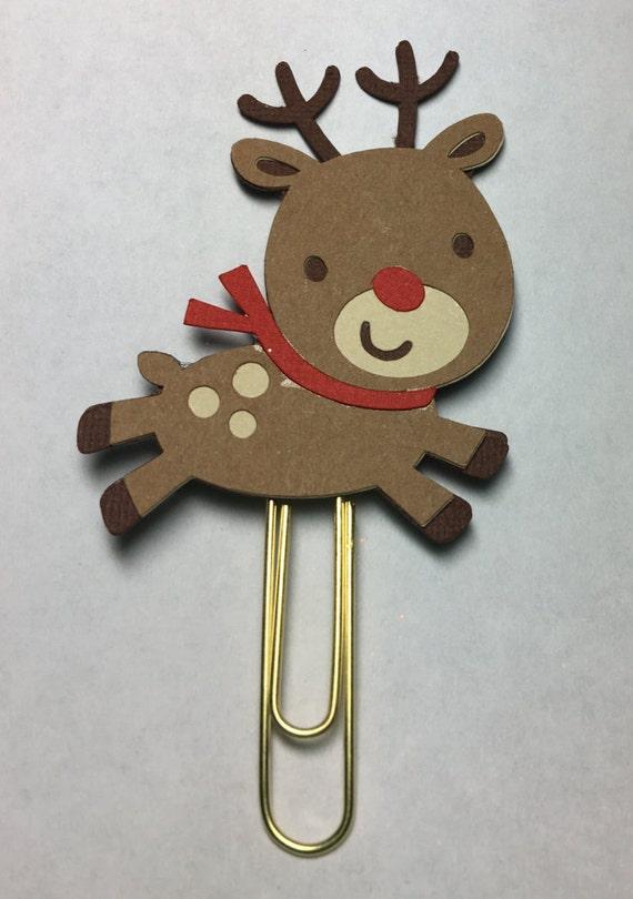 Christmas Reindeer Paper Clip| Reindeer Bookmark| Planner Accessory| Paper Clip| Planner Paper Clip| Reindeer Paper Clip
