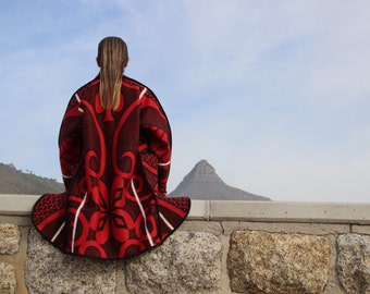 Lesotho Blanket Coat (colour choice) - Made to order