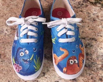 Finding Dory Hand Painted Shoes