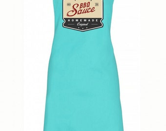 Personalised BBQ Sauce Apron Summer Cooking