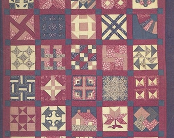 SAMPLER QUILT Quilting Book by Diana Leone - Vintage Quilts Pattern REDUCED
