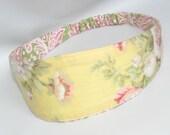 Fabric Headband, Women's Headband, Women Hairband, Reversible Fabric Hairband, Fashion Accessories, Rose Flower Teen Headband
