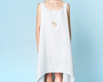 SALE Powder Blue Chambray Maxi Dress. Light Blue Dress. Asymmetrical Loose Fit Dress. Cotton Chambray. Pastel Blue. Frederique Dress SS16