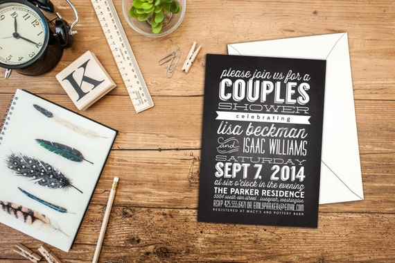 Modern Couple Wedding Shower Invitation