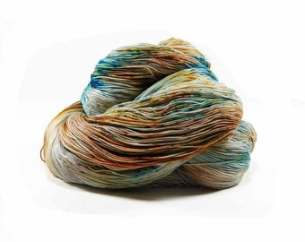 300 Yards Hand Dyed Cotton Crochet Thread Size 10 3 Ply Sea Green Golden Yellow Gray Light Brown Fine Cotton Yarn