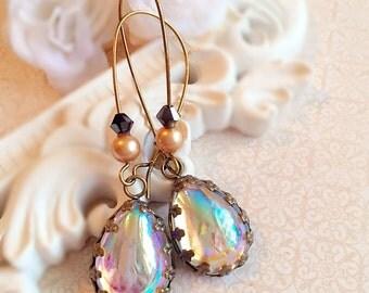 Aurora Borealis Earrings - Victorian Earrings - Romantic Jewelry Gift - Victorian Jewelry - ASHFORD Looking Glass