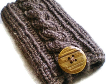 All Colors Cable Knit Cell Phone Case, Android Phone Case, iPhone Case, Smartphone Cozy, Android Case, iPhone Cover, iPhone Sleeve, Knitted