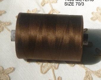 Gigantic 1400 METER Spools Vintage Swiss Quality spun silk thread