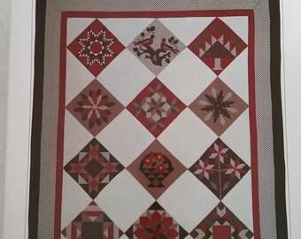 Lands' End Quilting Kit Quilt and Stocking Lap Quilt 1988 Uncut Vintage Pattern