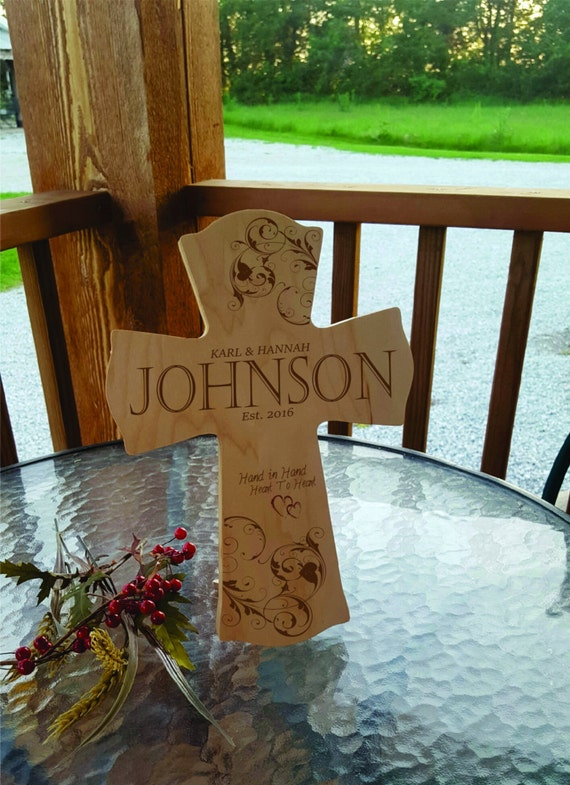 Personalized Wedding Cross, Religious Wedding Cross, Couples Gift ...