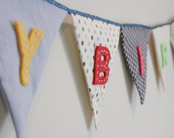 Birthday Party Bunting Banner