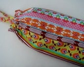 Plastic Grocery Bag Holder Multi Color Stripe, Fiesta  Style Fabric, Plastic Bag Storage