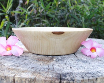Wood Bowl Beautiful and Rare Crepe Myrtle , Salad Bowl, Fruit Bowl,  Serving Bowl hand turned