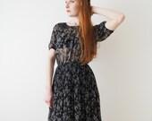 Black cherry dress, Japanese vintage, small - medium