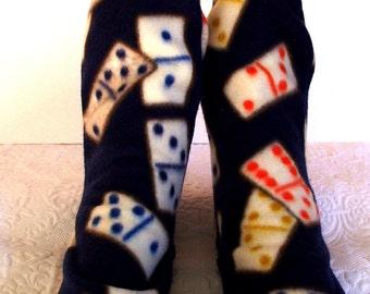 Fleece Socks, Warm Women's Winter Fleece Socks, Ski Boot Socks, Warm Handcrafted Sox, Ladies Warm Socks, Women's Socks, Novelty Socks