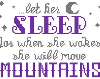 Let Her Sleep - Cross Stitch Pattern