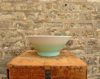 Pfaltzgraff Ombre Turquoise Vintage Serving Bowl - Teal - 1950s - Mid Century Modern - Serving Dish