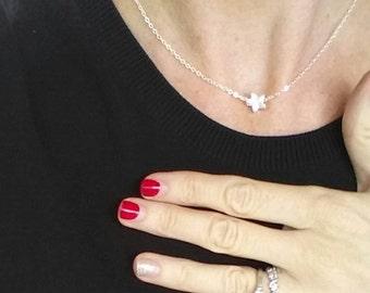 Star Necklace Silver, Dainty Tiny Star Jewelry Minimalist